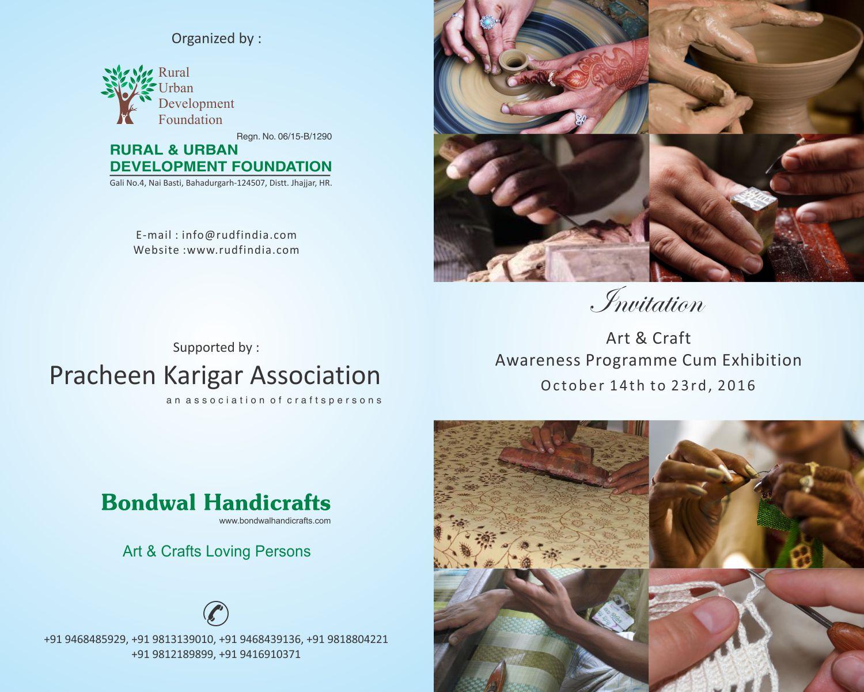 Art Crafts Awareness Programme Cum Exhibition Starting From Oct